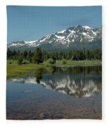 Shallow Water Reflections Fleece Blanket