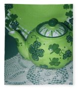 Shamrock Tea Fleece Blanket