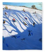 Shandows On A Hill Monyash Fleece Blanket