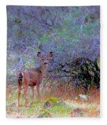 Shasta County Deer  Fleece Blanket
