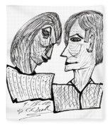 She And He Pen And Ink 2000 Fleece Blanket