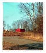 Shed Around The Bend Fleece Blanket