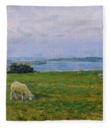 Sheep Grazing Fleece Blanket