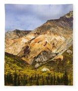 Sheep Mountain Along Glenn Highway Fleece Blanket