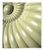Shell Of Repetition Fleece Blanket