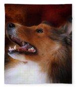 Sheltie II Fleece Blanket