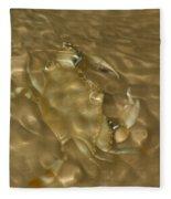 Shimmering Crab Fleece Blanket