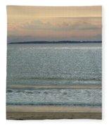 Shimmering Sunlight Upon The Sea Fleece Blanket