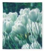 Shimmering Tulips Fleece Blanket