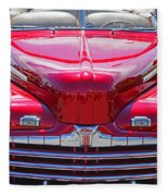 Shiny Red Ford Convertible. Fleece Blanket