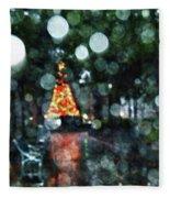 Shiny Tree In Bienville Square Fleece Blanket