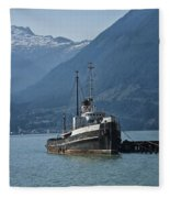 Shipping Freighter In Squamish British Columbia No.0187 Fleece Blanket
