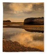 Shipwrecked Boat Fleece Blanket