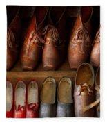 Shoemaker - Shoes Worn In Life Fleece Blanket