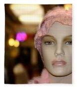Shopping Girl Fleece Blanket