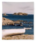 Shoreline Boat Fleece Blanket