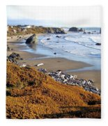 Shores Of Oregon Fleece Blanket