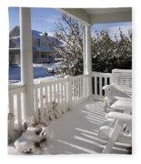 Showy Porch Fleece Blanket
