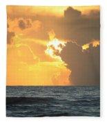 Shrimp Boat Sunrise Fleece Blanket