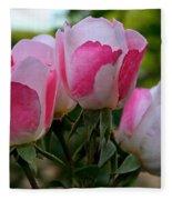 Shrub Roses Fleece Blanket