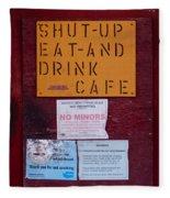 Shut-up Eat-and Drink Cafe In Palouse Washington Fleece Blanket