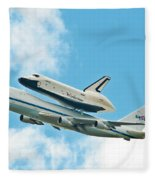 Shuttle Enterprise Comes To Ny Fleece Blanket