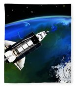 Shuttle On Orbit Fleece Blanket