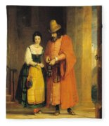 Shylock And Jessica From 'the Merchant Of Venice' Fleece Blanket