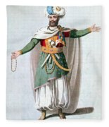 Sidy Hafsan, Bey Of Tripoli, 1816 Fleece Blanket