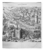 Siege Of Orleans, 1428-1429 Fleece Blanket
