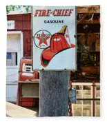 Sign - Fire Chief Gasoline Fleece Blanket