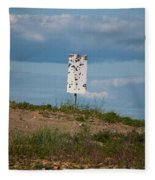 Sign At The Gulf Of Bothnia Fleece Blanket
