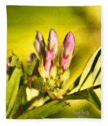 Sign Of Spring Fleece Blanket