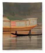Silence On The Mekong Fleece Blanket