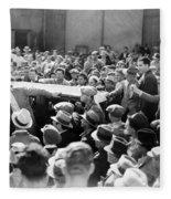 Silent Film: Crowds Fleece Blanket