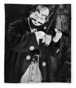 Silent Film Still: Clown Fleece Blanket