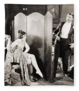 Silent Film Still: Legs Fleece Blanket