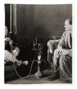 Silent Film Still: Smoking Fleece Blanket