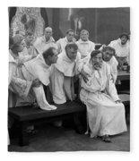 Silent Still: Group Of Men Fleece Blanket
