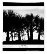 Silhouette Palm Sunset Fleece Blanket