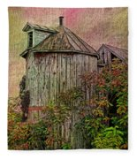 Silo In Overgrowth Fleece Blanket