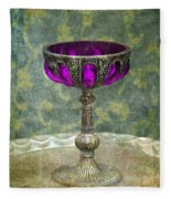 Silver Chalice With Jewels Fleece Blanket