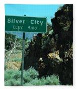 Silver City Nevada Fleece Blanket