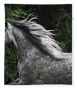 Silver Dapple Fleece Blanket