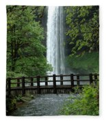 Silver Falls 2 In Oregon Fleece Blanket