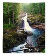 Silver Falls Full View  Fleece Blanket