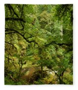 Silver Falls Rainforest Fleece Blanket