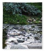 Silver Stream Fleece Blanket