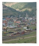 Silverton Colorado Painterly Fleece Blanket