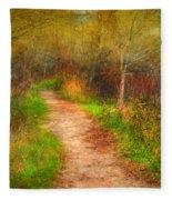 Simple Pathways Fleece Blanket